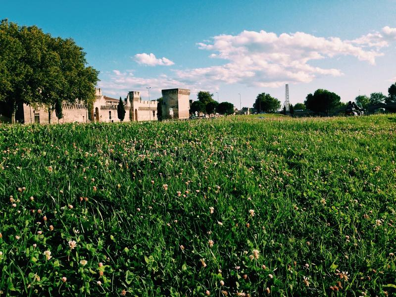 krajobrazowy średniowieczny obrazy royalty free