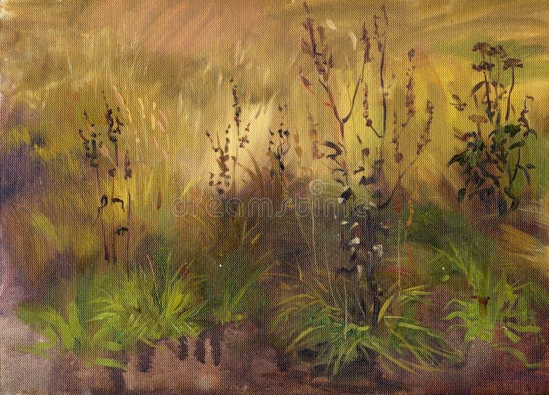 krajobrazowy bagienny ilustracja wektor