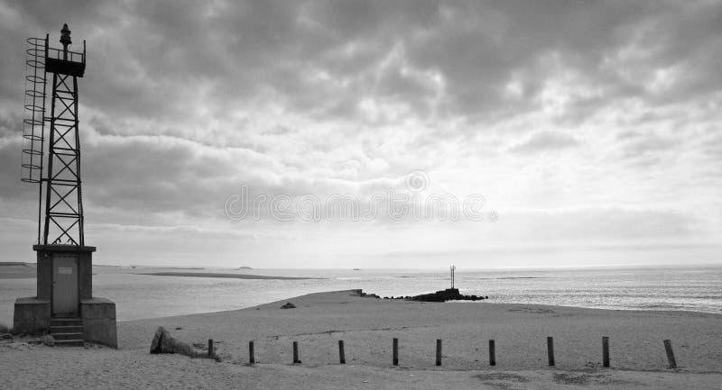 krajobrazowy Brittany czarny biel zdjęcia royalty free