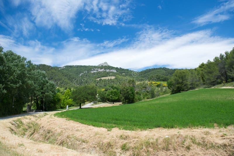 Krajobrazowy Drome Provencal w Francja zdjęcie stock