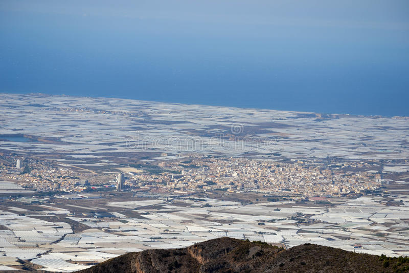 Krajobrazowy El Ejido Almeria obrazy royalty free