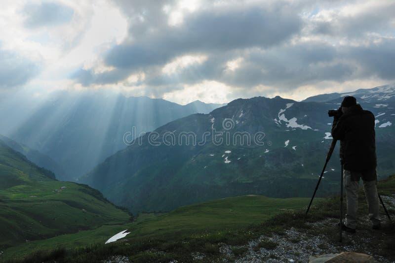 Krajobrazowy fotograf obraz stock