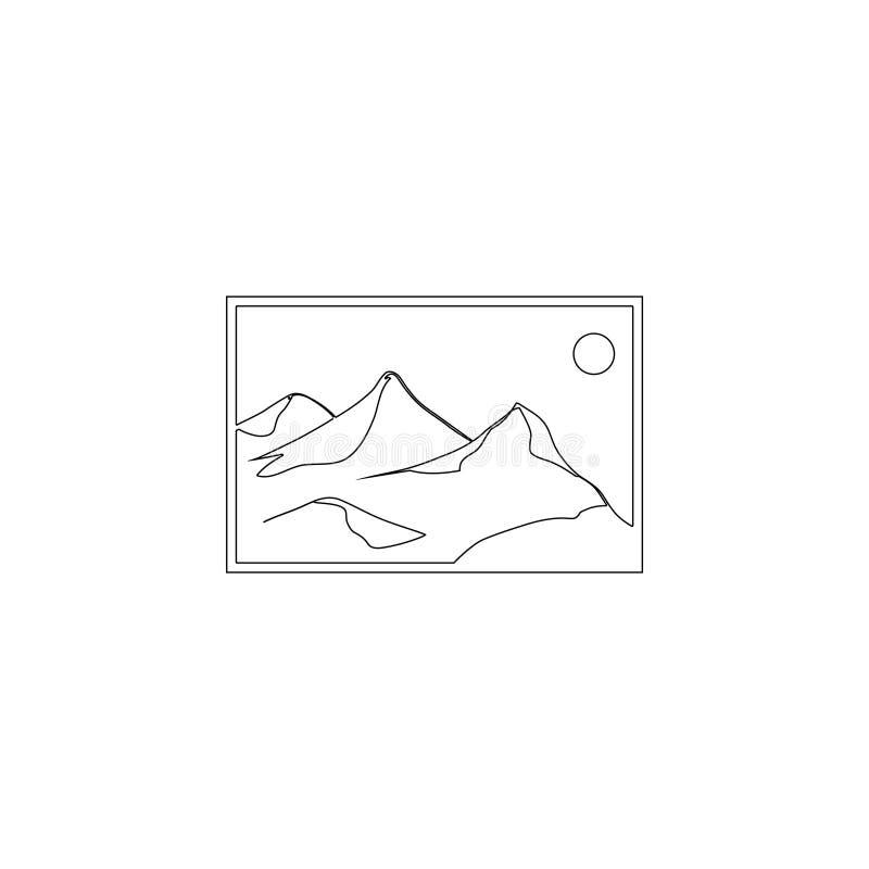 Krajobrazowy fotografia obrazka lub wizerunku placeholder P?aska wektorowa ikona ilustracja wektor