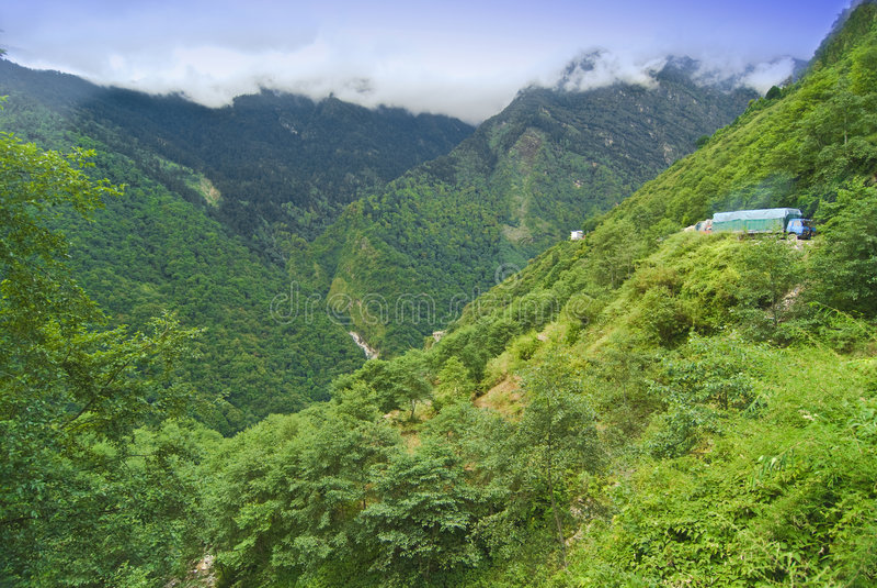 krajobrazowy górzysty tibetan obrazy royalty free