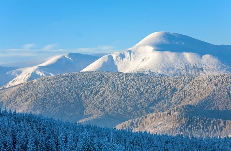 krajobrazowy halny śnieżny wschód słońca zdjęcie royalty free