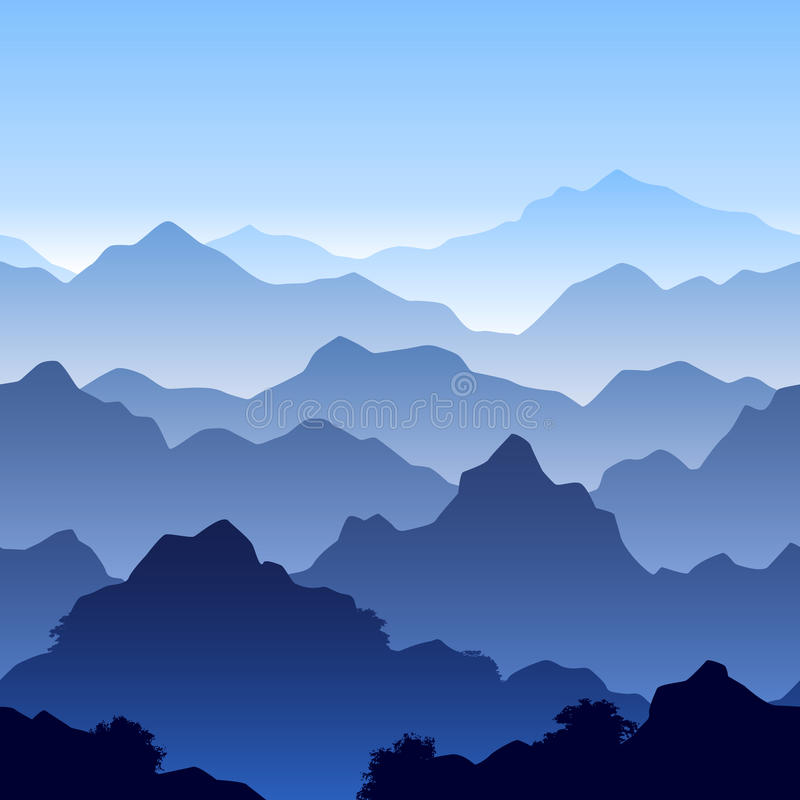 krajobrazowy halny bezszwowy ilustracja wektor