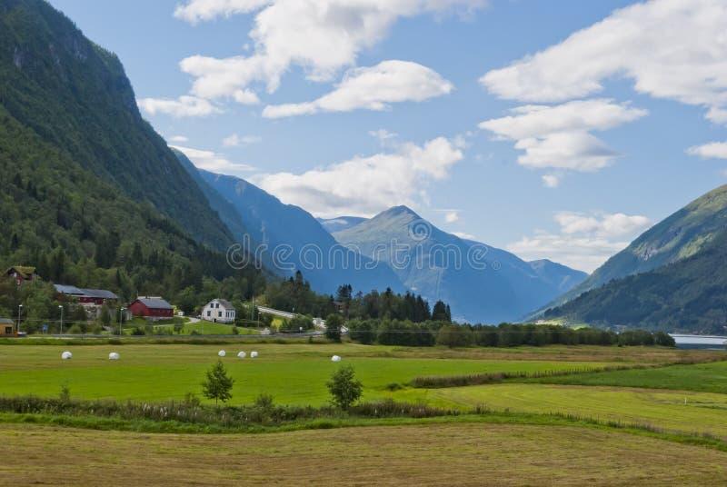 krajobrazowy halny norweski fotografia stock