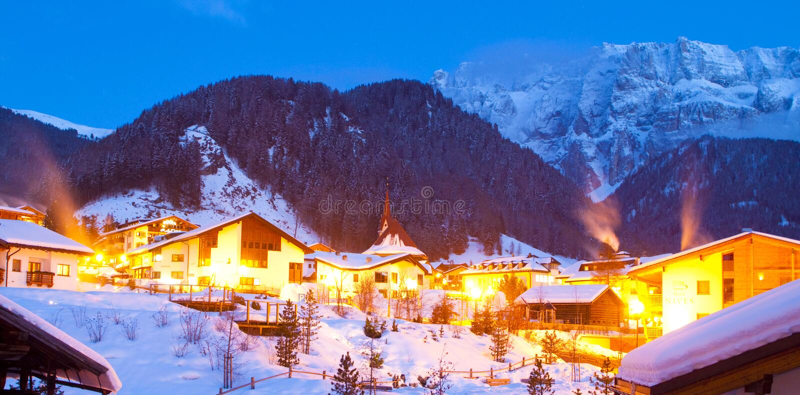 krajobrazowy halny wintertime fotografia royalty free