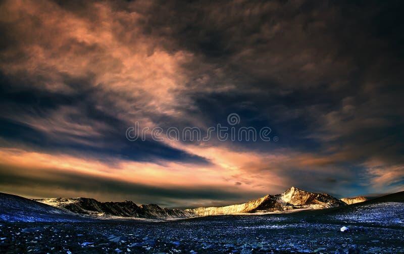 krajobrazowy halny zmierzch zdjęcia royalty free