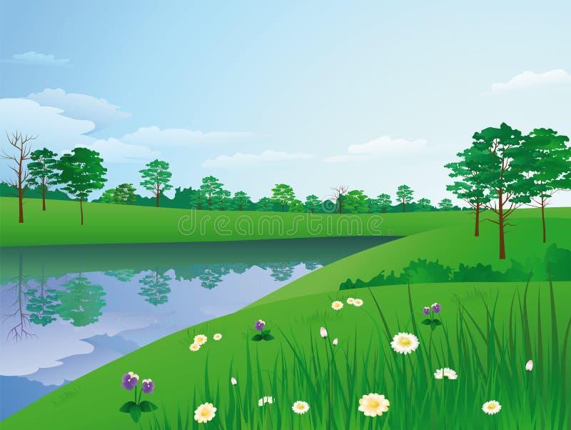 krajobrazowy lato ilustracji
