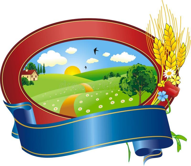 krajobrazowy logo ilustracji