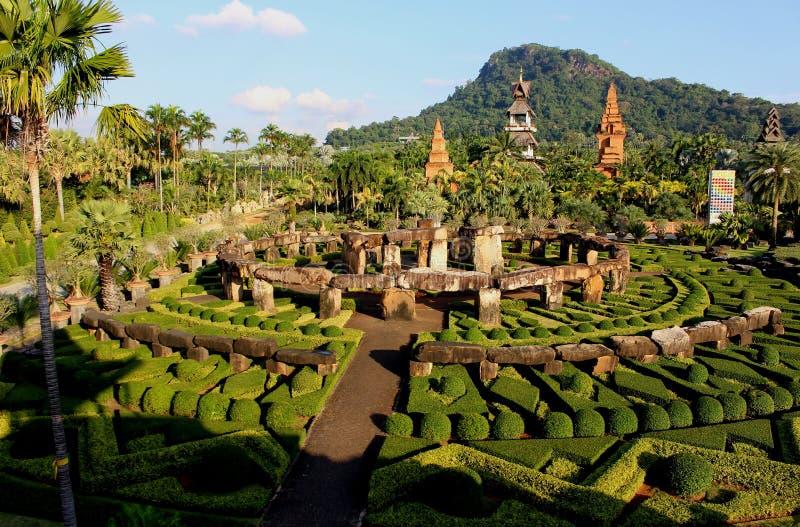 Krajobrazowy Nong Nooch Tropikalny ogród botaniczny zdjęcie stock