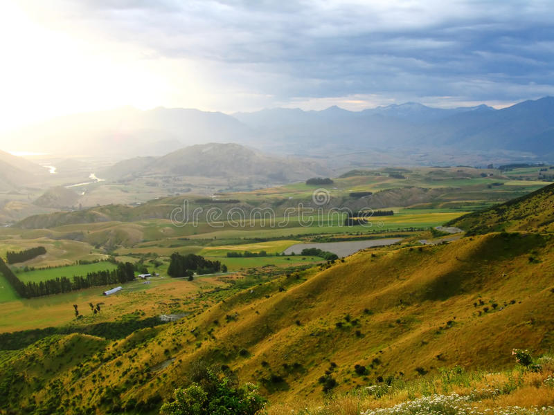 krajobrazowy nowy sceniczny Zealand zdjęcia royalty free