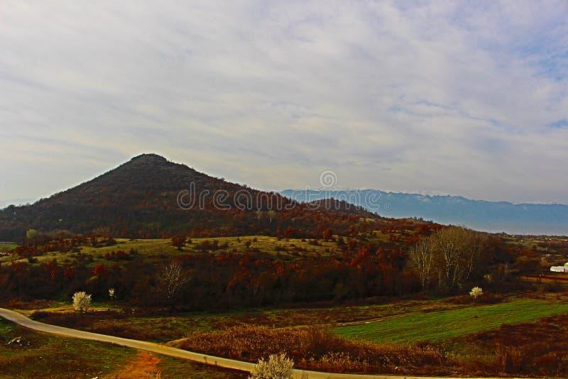 Krajobrazowy obrazek za Kozhuh Belasitsa i blisko Rupite, Kozhuh -, zdjęcie stock