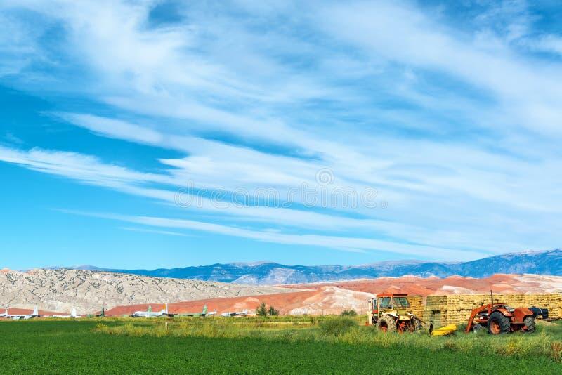 Krajobrazowy Outside Greybull, Wyoming fotografia stock