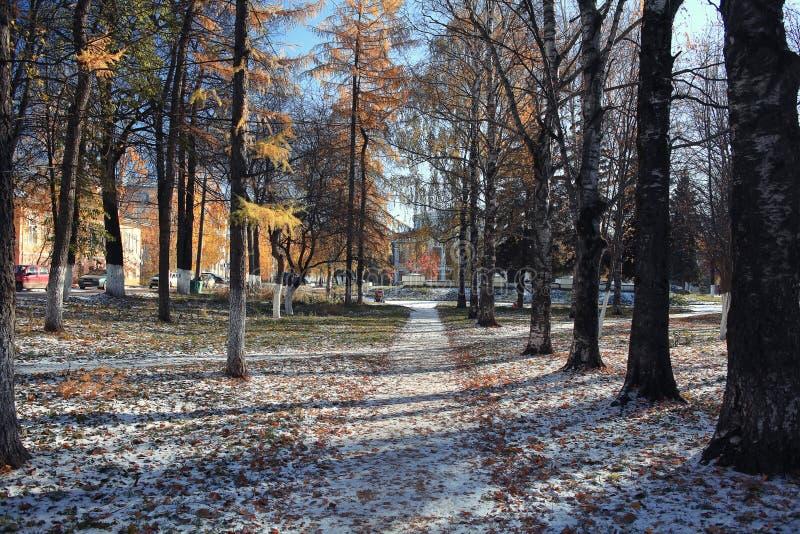 Download Krajobrazowy Park zdjęcie stock. Obraz złożonej z mgłowy - 57659010