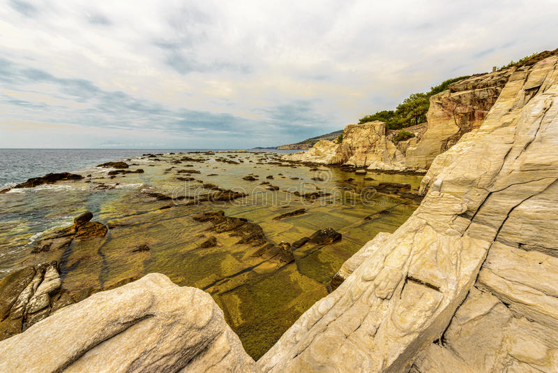Krajobrazowy piękny morze fotografia stock