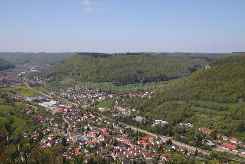 Krajobrazowy pobliski Zły Ditzenbach zdjęcie stock