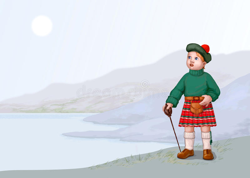 krajobrazowy Scotland royalty ilustracja