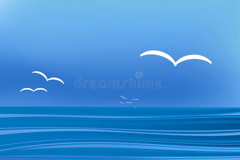krajobrazowy seagull royalty ilustracja