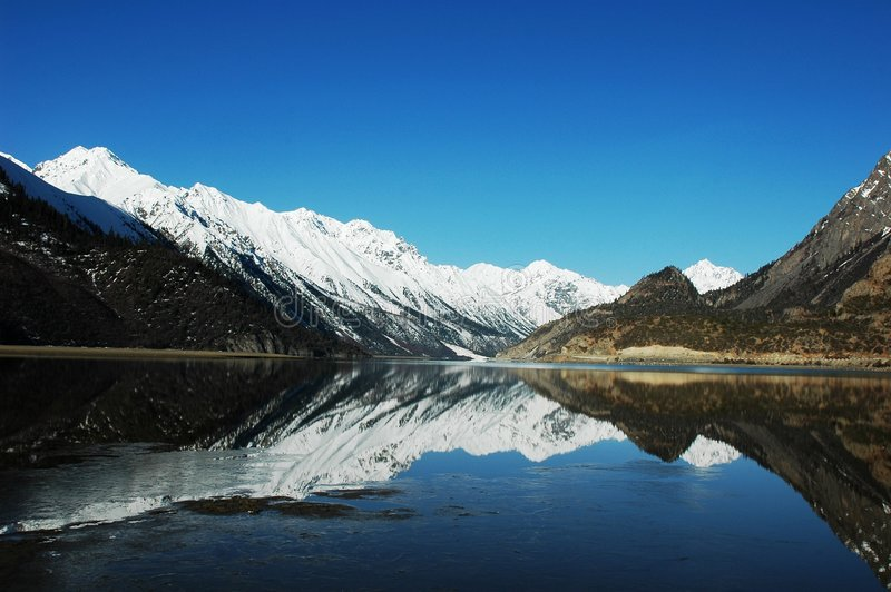 krajobrazowy Tibet zdjęcia stock