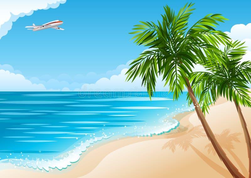 krajobrazowy tropikalny royalty ilustracja