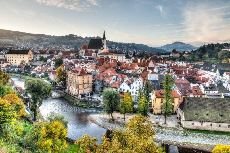 Krajobrazowy widok Cesky Krumlov w republika czech zdjęcie royalty free