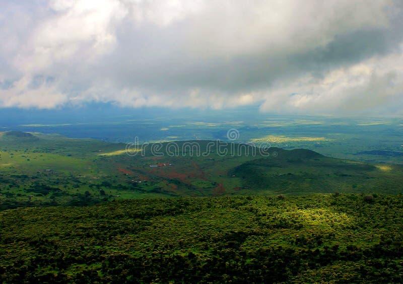 Krajobrazowy widok escarpment zdjęcie royalty free