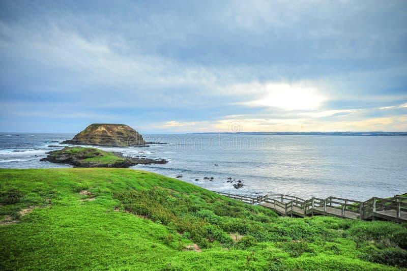 Krajobrazowy widok Phillip wyspa w Australia obraz royalty free