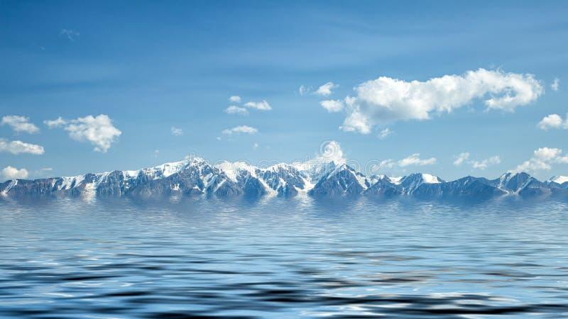 Krajobrazowy widok piękne fhigh góry fotografia stock