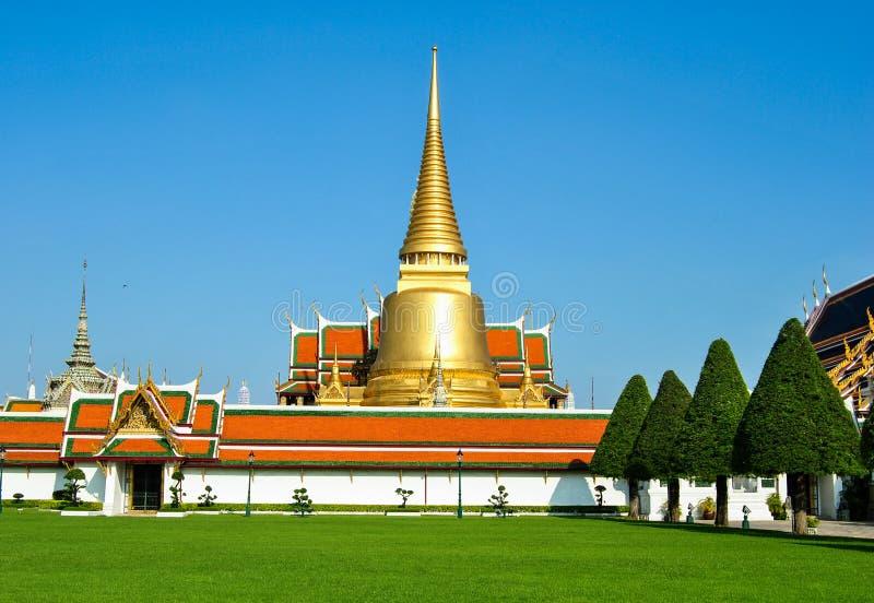 Krajobrazowy widok Uroczysty pałac, świątynia Szmaragdowy Buddha zdjęcie royalty free