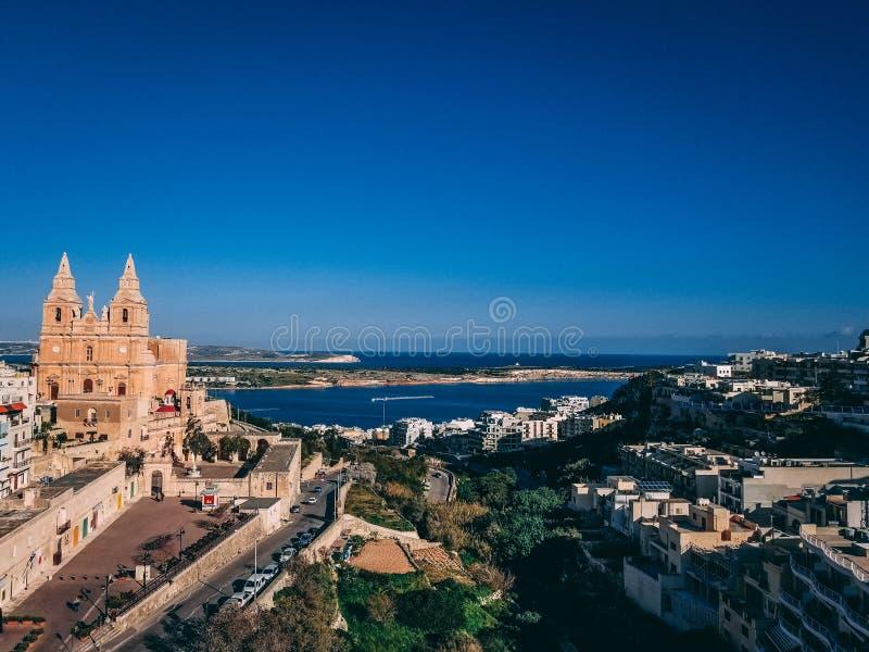 Krajobrazowy widok w Malta obraz stock