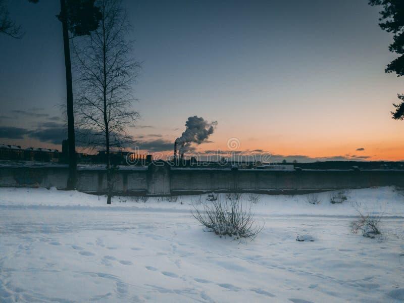 Krajobrazowy widok w Vilnius fotografia royalty free