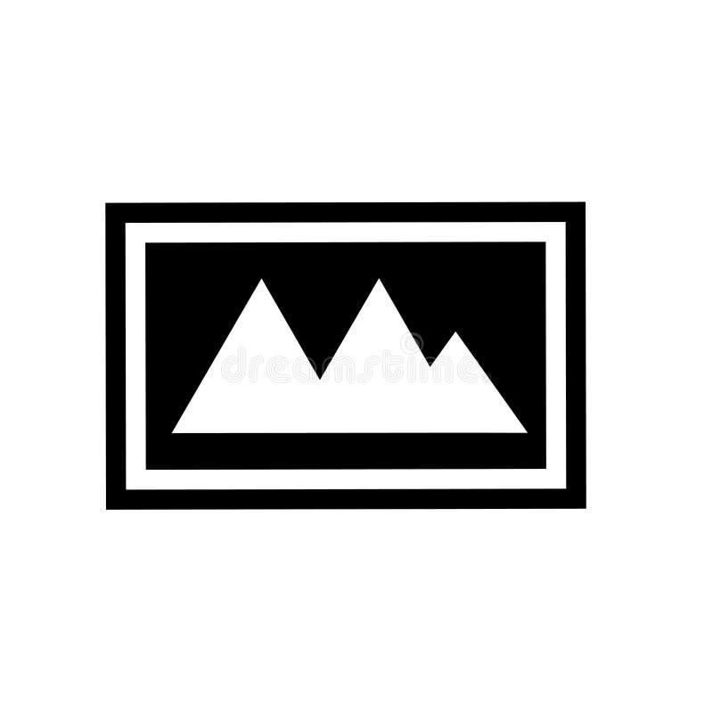 Krajobrazowy wizerunek ikony wektoru znak i symbol odizolowywający na białym tle, Krajobrazowy wizerunku logo pojęcie royalty ilustracja