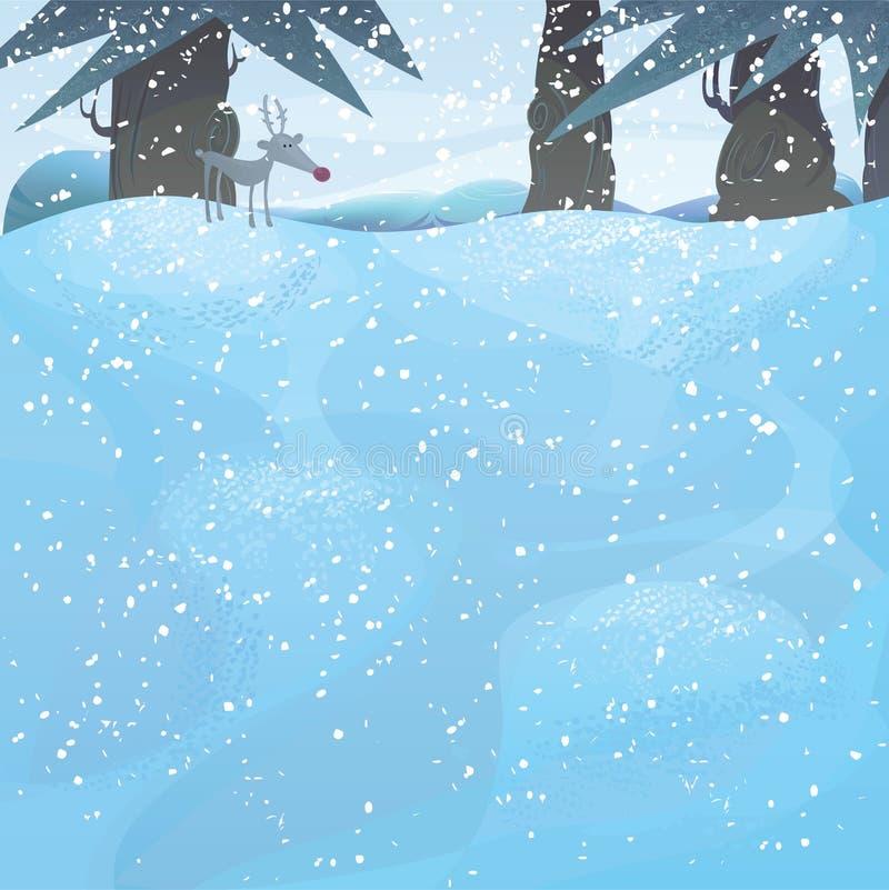 krajobrazowych sosen wektorowa zima ilustracja wektor