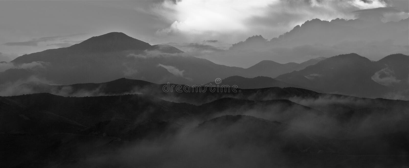 krajobrazu górzysty fotografia royalty free