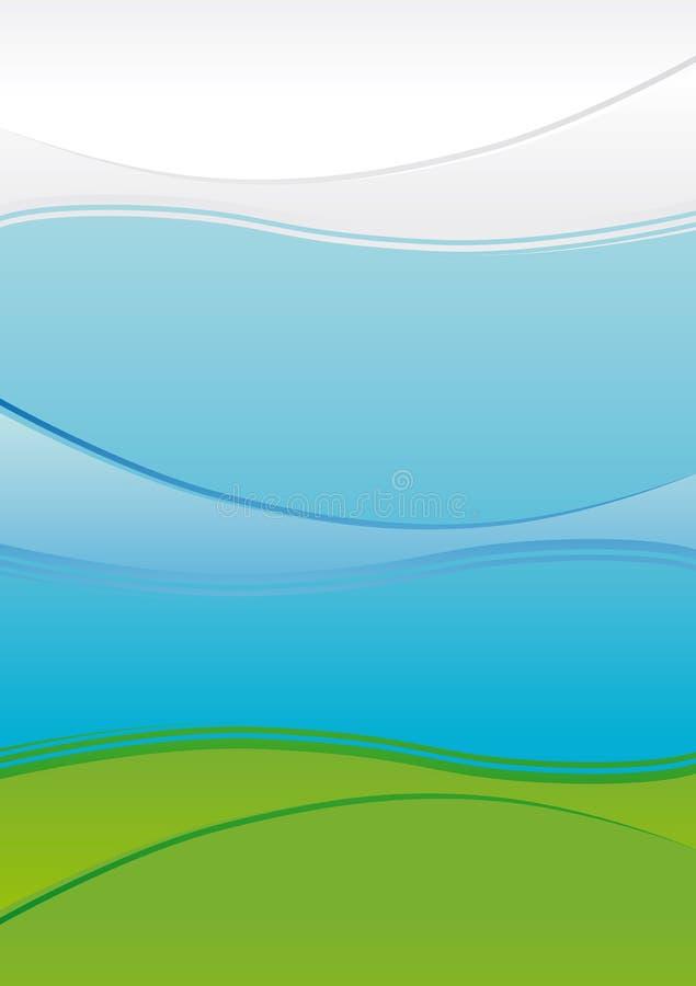 krajobrazu lotniczy jaskrawy wektor ilustracji