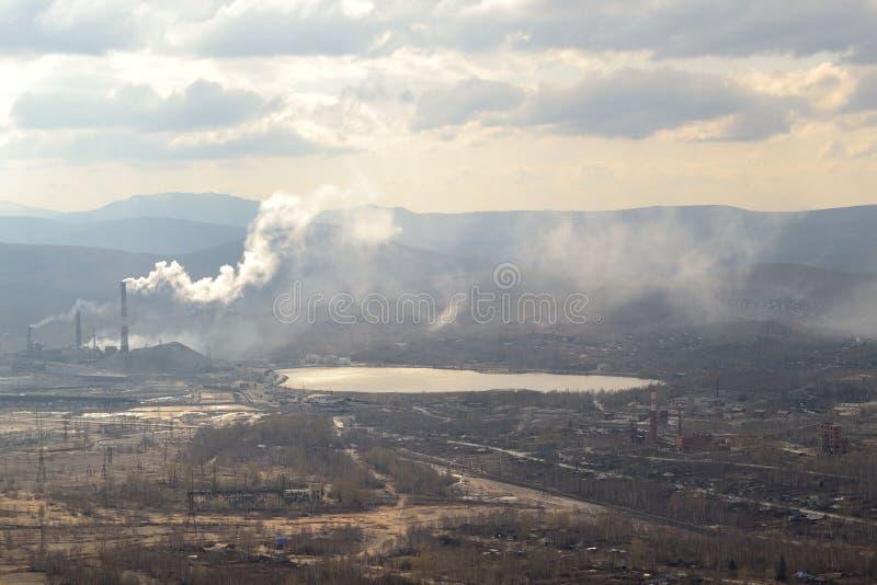krajobrazu przemys?owego Karabash, strefa ekologiczna katastrofa Rosja obraz stock