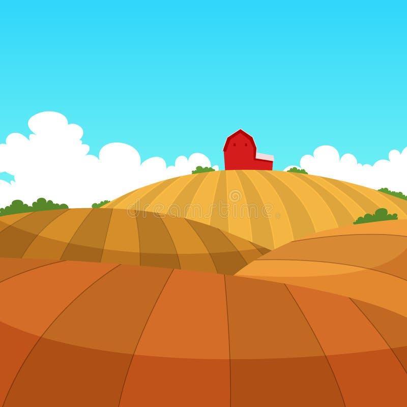 krajobrazu rolnego ilustracja wektor