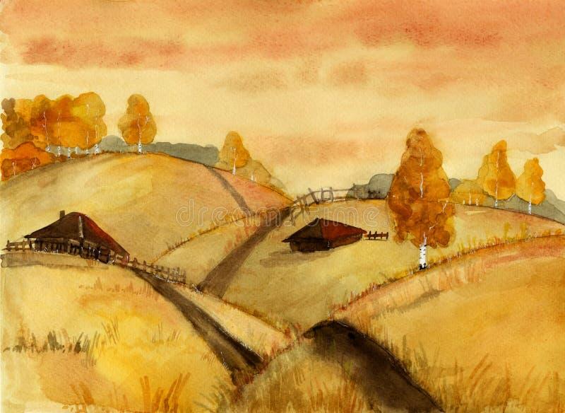 krajobrazu wiejskiego