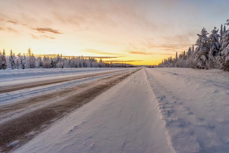 Krajobrazy w Lapland blisko Sirkka, Finlandia obraz royalty free
