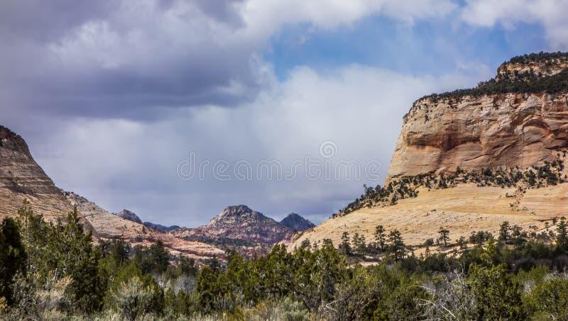 Krajobrazy zbliżają abra kanabra i zion parka narodowego w Utah obraz royalty free
