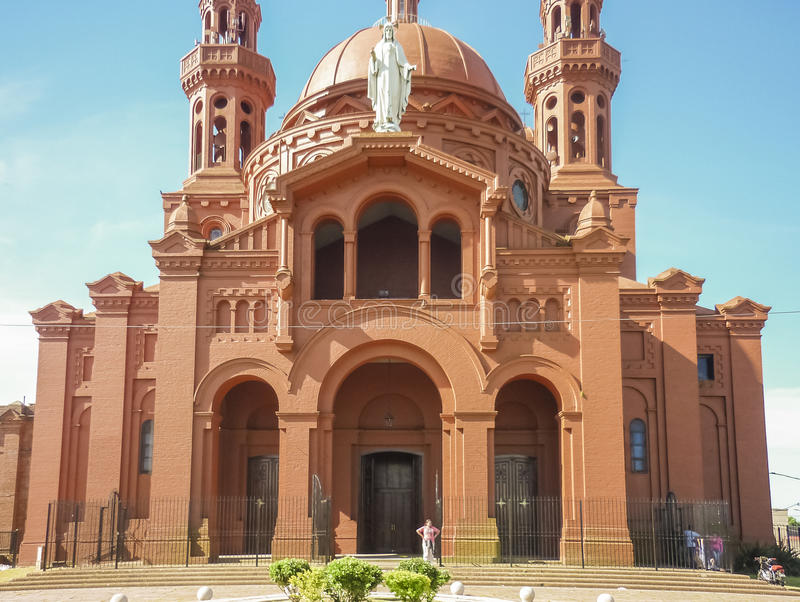 Krajowa świątynia Cerrito de losu angeles Wiktoria kościół zdjęcie royalty free