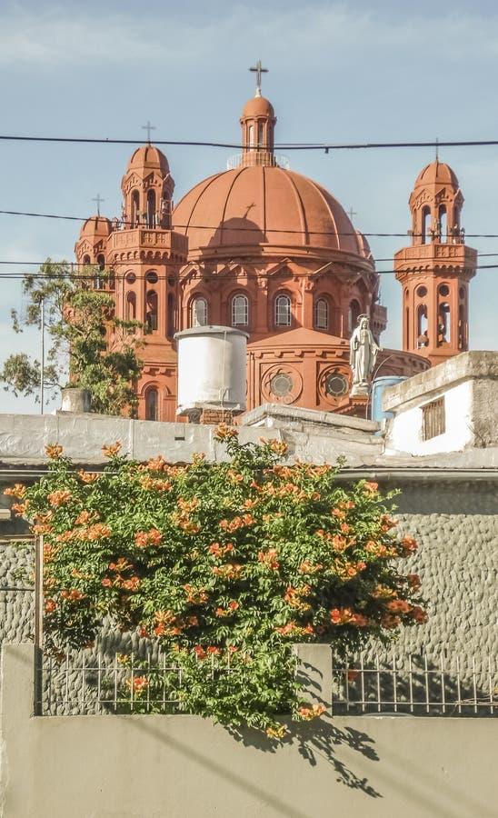 Krajowa świątynia Cerrito de losu angeles Wiktoria kościół fotografia stock