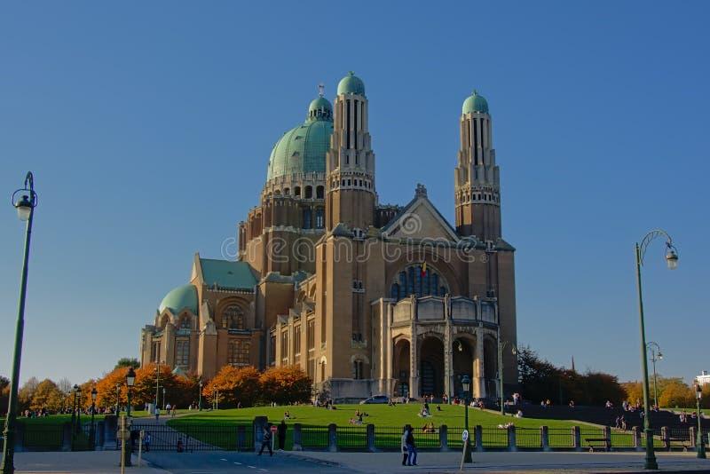 Krajowa bazylika Święty serce, Koekelberg, Bruksela, Belgia zdjęcie stock