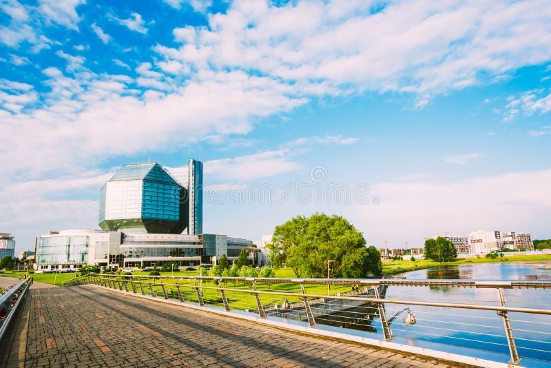 Krajowa biblioteka Białoruś w Minsk obrazy stock