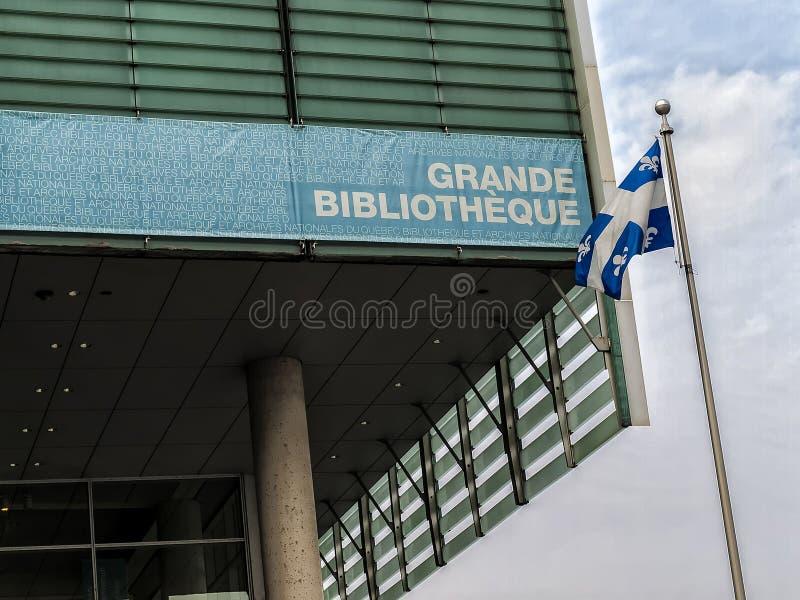 Krajowa biblioteka i archiwa Quebec fotografia stock