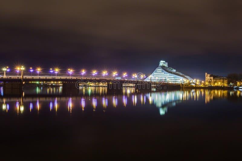 Krajowa biblioteka Latvia fotografia stock