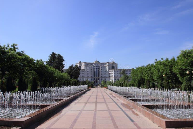 Krajowa biblioteka Tajikistan w Dushanbe mieście, Tajikistan zdjęcie stock