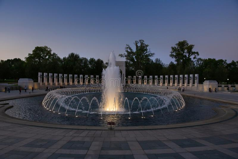Krajowa druga wojna światowa pomnika fontanna zdjęcia stock